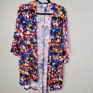 Women's Sz. L Colorful Kimono Robe